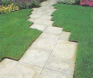 Gartenwege aus Stein und Holz, Auswahl und Material