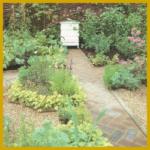 Garten Wege aus Stein und Holz, Auswahl und Material