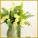 Bunte Frühlingssträuße in der Vase